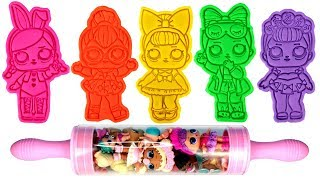 LOL Dolls Play Doh Molds & LOL Surprise Opening Confetti Pop Pearl Surprise Glitter Lil Sisters Pets
