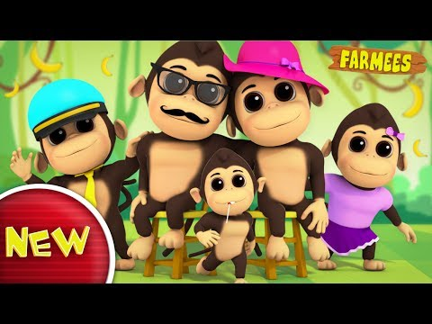 Gorilla Finger Family | Nursery Rhymes For Kids | Baby Songs | Children Rhymes by Farmees S02E168