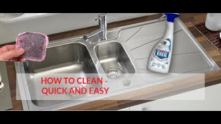 How To Clean A Stainless Steel Sink - EASY METHOD - IN ACTION!