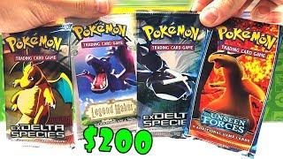 OPENING $200 VINTAGE POKEMON CARDS PACKS! (very rare)