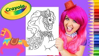 Coloring Pony Princess Royal Horse Crayola Coloring Page Prismacolor Pencils | KiMMi THE CLOWN
