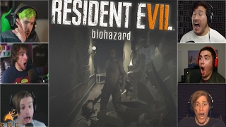 Gamers Reactions to the Jack Baker Breaking the Wall (Jumpscare) | Resident Evil 7: Biohazard