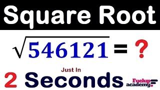 Square Root in 2 Seconds TRICK   Speed Math Tricks [ in Hindi ]