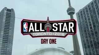 Behind the Scenes at Toronto NBA All-Star Weekend! Day 1