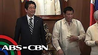 Bandila: Abe, unang foreign leader na bumisita sa ilalim ng Duterte administration