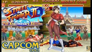 Hyper Street Fighter 2: The Anniversary Edition Turbo Mode Chun Li Lev8 no lose playthrough