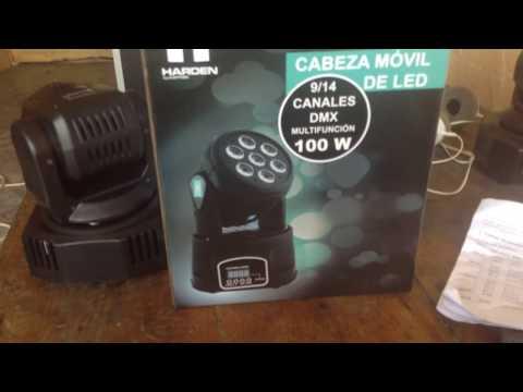 probando cabeza movil baby wash 7x10 led rgbw