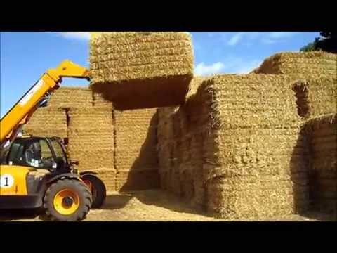 DE Keeble Hesston straw baling chasing stacking harvest 2012