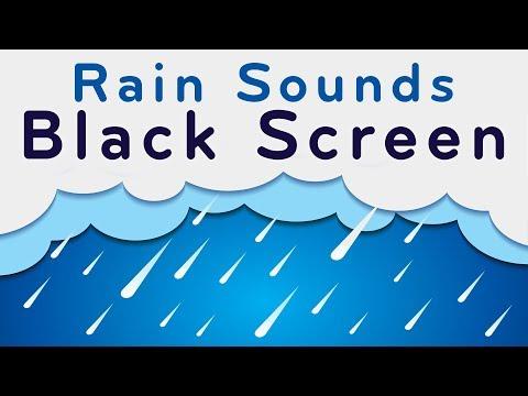 Rain Sounds Black Screen | Sleep, Focus, Relax | White Noise 10 Hours