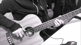 Cort Acoustic bass Sjb6fx + Daddario EXP PBB170 sound Test (and cable test)