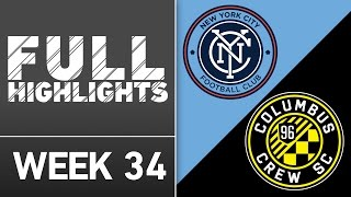HIGHLIGHTS | New York City FC vs. Columbus Crew SC