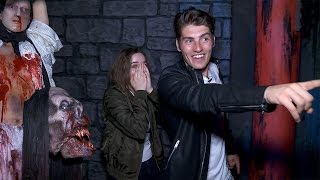 Gregg Sulkin & Joey King's Knott's Scary Farm Nightmare