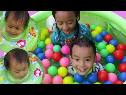 Baby Bath Flow - Baby Swimming Pool -  Mainan Kolam Anak Bayi @LifiaTubeHD