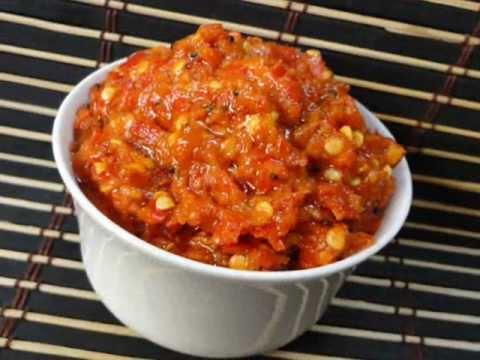 Andhra Recipes - Pandumirapakayala Karam - South Indian Red Chilli Pickle - Indian Telugu Food