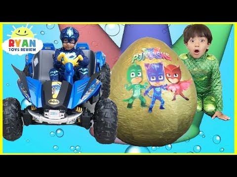Download Pj Masks Toys videos Compilation for Kids! Giant Egg Surprise Headquarters Playset Catboy Gekko free