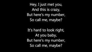Paroles Carly Rae Jepsen - Call me maybe