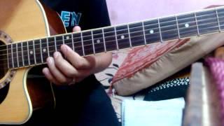 Lekhiyeka sabda full guitar tutorial with solo