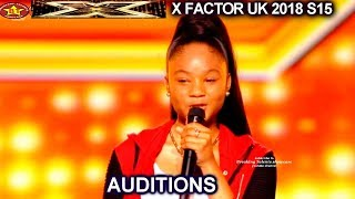 AAliyah Robinson  14 year old First Song & Try  AUDITIONS week 2 X Factor UK 2018