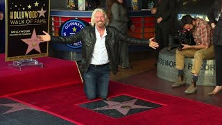 Richard Branson honoured with Hollywood star
