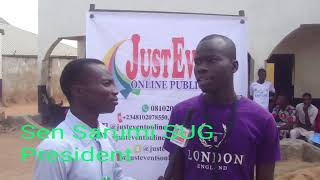 #VideoNews Sen Sarumi Jimoh SUG President of NACOED speaks with Just Event online crew