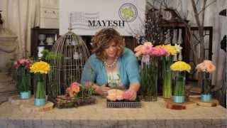 The Art of Flowers March 2012: Wedding Bird Cage Floral Design