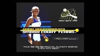 """[Ps1] Introduction du jeu """"Anna Kournikova's Smash Court Tennis"""" de l'editeur Namco (1999)"""