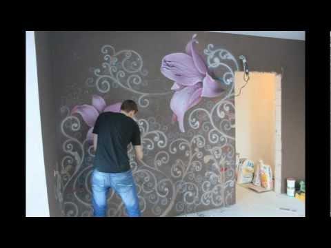 Как сделать рисунок на стен