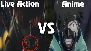 Tokyo Ghoul Anime VS Live action