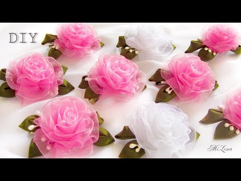 Цветы из ткани своими руками для оформления