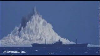 تجربة قنبلة نووية لإغراق سفينه HD
