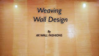 Asian Paints Royale Play Metallics Weaving Wall Design