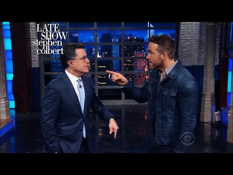 Ryan Reynolds Time Travels Into Stephen s Monologue