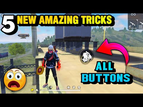 TOP 5 NEW TRICKS FOR FREE FIRE ALL BUTTONS IN ONE PLACE WHAT HAPPENS 😱 BROKEN JOYSTICK