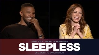 Sit Down With the Stars: Sleepless – with Jamie Foxx and Michelle Monaghan – Regal Cinemas [HD]