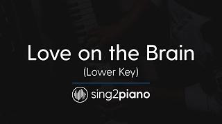 Love On The Brain (Lower Piano Karaoke) Rihanna