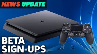 """Sign-Ups For """"Major"""" PS4 System Update Beta Now Open - GS News Update"""