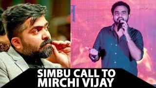 Actor Simbu Secret Phone Call to Mirchi Vijay | This is why STR is Always Mass