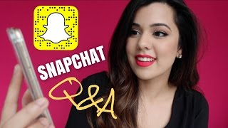 SNAPCHAT Q&A | Why I started YouTube, My Ethnicity & Living in 2 Cities
