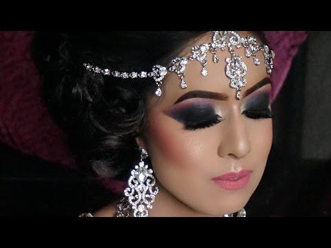 Real Walima (Reception) Bride | Heavy Smokey Eyes Contemporary Asian Bridal Makeup
