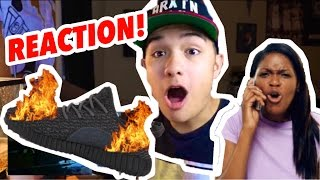 MOM BURNS SONS YEEZYS AND BUYS ROSHES INSTEAD!! (SNEAKERHEAD REACTION)
