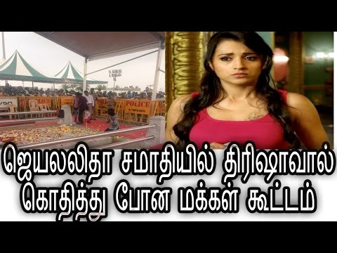 People Get Angry With Trisha At Jayalalitha Death Plase - Tamil Cinema Seidhiga