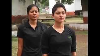beautiful girl Soldiers training