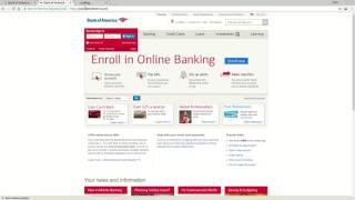 Bank of America Online Banking Login Tutorial