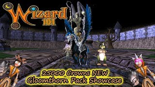 Wizard101 25k Crowns NEW 2017 Gloomthorn Pack Showcase  Mount, Wig & MORE!!