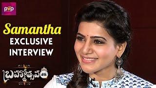 Samantha Exclusive Interview | Brahmotsavam Movie | Mahesh Babu | Kajal Aggarwal | Srikanth Addala
