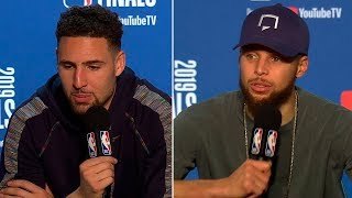 Stephen Curry & Klay Thompson Postgame Interview - Game 4 | Raptors vs Warriors | 2019 NBA Finals