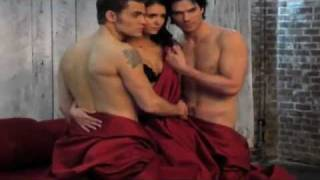 The Vampire Diaries - Season 3 - Ian, Nina & Paul - BTS Video of EW Magazine Cover Shoot