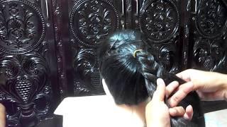কিভাবে খেজুরের বেণী খোঁপা করবেন । Fish Braid Bun Hairstyle । Fishtail Braid Hairstyles