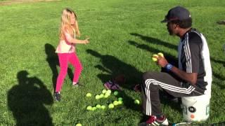 "San Anselmo ""The Thrashers"" 8U softball practice drill."