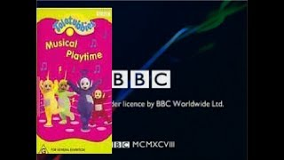 Opening And Closing To Teletubbies Musical Playtime 1999 VHS Australia
